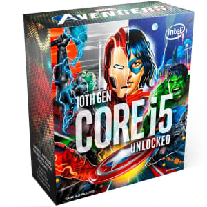 Processador Intel Core i5-10600K Marvel´s Avengers Collector´s Edition Packaging, Cache 12MB, 4.1GHz (4.8GHz Max Turbo), LGA1200 - BX8070110600KA