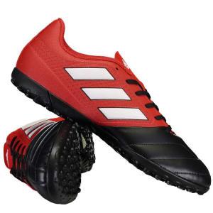 Chuteira Adidas Ace 17.4 TF Society Vermelha (N° 37 e 38)