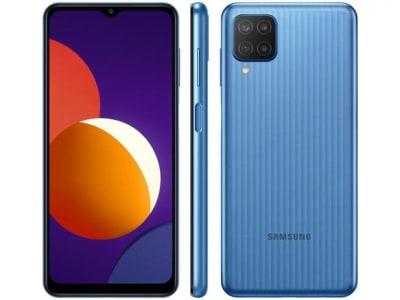"""Confira ➤ Smartphone Samsung Galaxy M12 64GB 4G – 4GB RAM Tela 6,5"""" – Azul ❤️ Preço em Promoção ou Cupom Promocional de Desconto da Oferta Pode Expirar No Site Oficial ⭐ Comprar Barato é Aqui!"""
