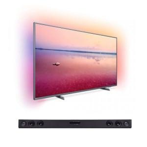 "Smart TV LED Ambilight 65"" Philips 65PUG6794/78 e Soundbar LG SK1D ABRALLK 2.0 Canais"