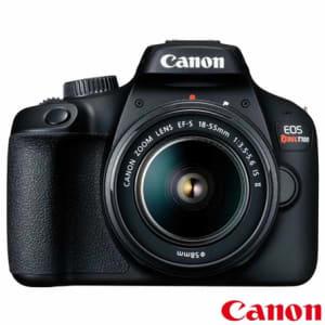"""Câmera Digital Canon EOS Rebel T100 DSLR com 18 MP 3"""" Gravação em Full HD - T100 EF-S 18-55MM STM"""