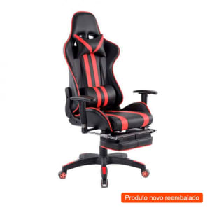 [Outlet] Cadeira Gamer Legends Preta e Vermelha