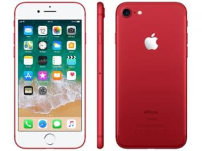 "iPhone 7 Red Special Edition Apple 128GB - 4G 4.7"" Câm. 12MP + Selfie 7MP iOS 11 - Magazine Ofertaesperta"