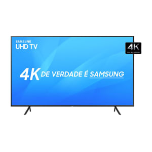"Smart TV LED 49"" Samsung NU7100 Ultra HD 4K com Visual Livre de Cabos, HDR Premium, Tizen, Wi-Fi, 3 HDMI 2 USB"