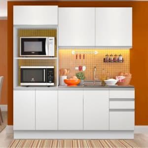 Cozinha Compacta Madesa 100% MDF Acordes Glamy 8 Portas