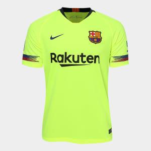 99f1e9ae42 Camisa Barcelona Away 2018 s n° - Torcedor Nike Masculina - Verde