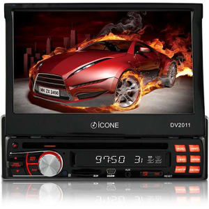 "DVD Player Automotivo Ícone DV2011 Tela 7"" - Rádio AM/FM, Entradas USB, SD e AUX"