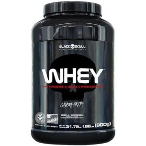 Whey protein - proteína concentrada isolada hidrolisada 900g - Caveira Preta - Magazine Ofertaesperta
