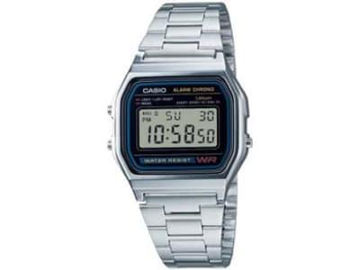 Relógio Unissex Casio Digital Resistente à Água - A158WA-1DF Prata - Magazine Ofertaesperta