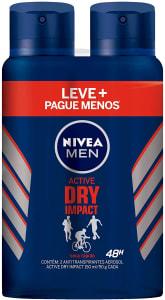 Confira ➤ Kit Desodorante Aerossol Nivea Men Dry Impact 150Ml – 2 Unidades, Nivea, Pacote de 2 ❤️ Preço em Promoção ou Cupom Promocional de Desconto da Oferta Pode Expirar No Site Oficial ⭐ Comprar Barato é Aqui!