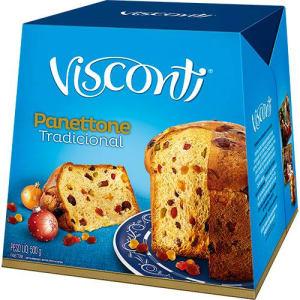 Panettone Frutas ou Chocottone Visconti - 500g