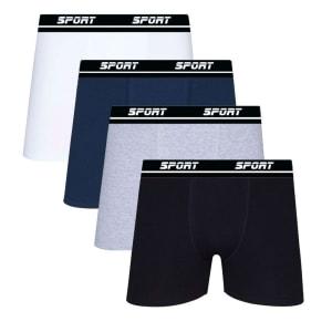 Kit 10 Cueca Boxer Algodão Sortida Sport Box Lisa SP72