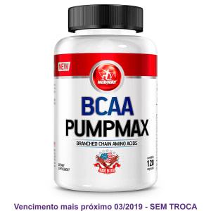Oferta ➤ BCAA Pumpmax Midway 120 Caps   . Veja essa promoção