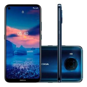 Smartphone Nokia 5.4, 128GB, 4GB RAM, 128GB, Câmera 48MP/Selfie 16MP, Tela 6.39, Google Assistente, Azul - NK025