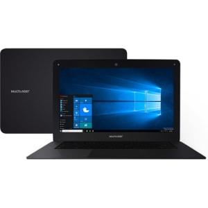 "Notebook Multilaser PC122 Intel Atom 2GB 64GB (32GB + 32GB SD) Tela 14"" Windows 10 - Preto"