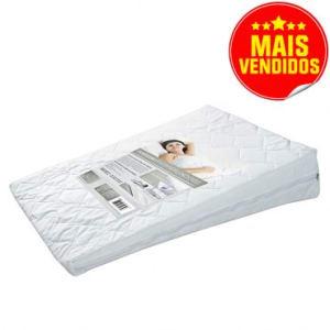 Travesseiro Anti Refluxo Desenvolvido por Fisioterapeutas com Capa Protetora em Matêlasse com Percal 200 Fios Com Ziper - Fibrasca
