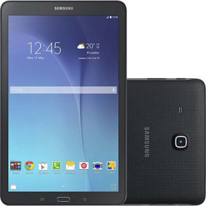 "Tablet Samsung Galaxy Tab E T560 8GB Wi-Fi Tela 9.6"" Android 4.4 Quad-Core - Preto"