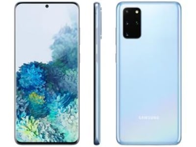 "Smartphone Samsung Galaxy S20+ 128GB Cloud Blue - 8GB RAM Tela 6,7"" Câm. Quádrupla + Selfie 10MP - Magazine Ofertaesperta"