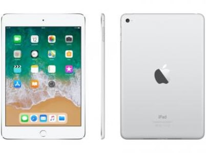 "iPad Mini 4 Apple 128GB Prata Tela 7,9"" Retina - Proc. Chip A8 Câm. 8MP + Frontal iOS 11 Touch ID - Magazine Ofertaesperta"
