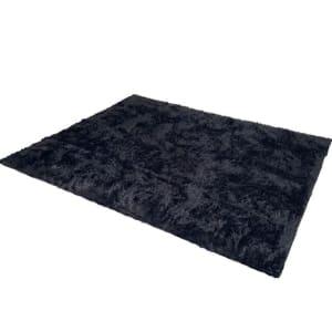Tapete Saturs Shaggy Pelo Alto Preto - 150 x 200 cm Tapete para Sala e Quartos - Diversas Cores