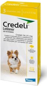 Credeli Tab 56,25mg X3Blcd Bl Elanco Cães Pequenos,