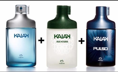 Desodorante Colônia Kaiak Extremo Masculino 100ml + Desodorante Colônia Kaiak Aventura Masculino 100ml + Desodorante Colônia Kaiak Masculino 100ml