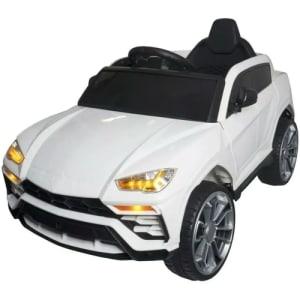 Carro Elétrico Infantil Lamborguini Urus Controle Pedal USB MP3 Musica e Luzes Branco