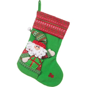 Bota Papai Noel com Barra em Tricot, 40cm - Christmas Traditions