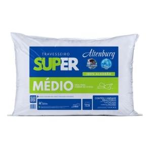 Travesseiro Altenburg Super Médio Para Quem Dorme De Costas - Branco