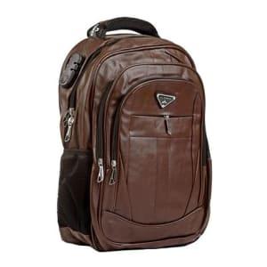 Mochila Executiva Masculina Couro Notebook Encaixe USB 25 Litros Marrom - Under Bags