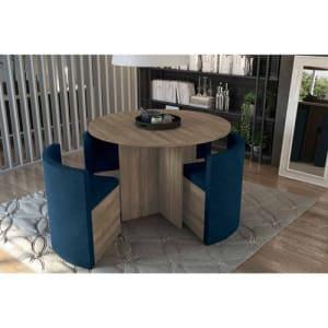 Sala de Jantar Kappesberg Estar Mesa Nirá 108cm c/4 Cadeiras Walnut Fosco c/ Vidro Carvão - WAFV3