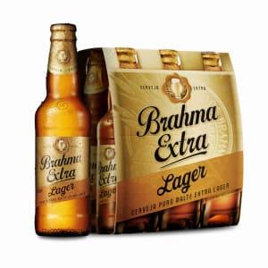 Cerveja Brahma Extra Lager 355ml Caixa com 06 unidades