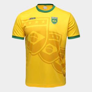 Camisa Brasil 1994 n° 11 Lotto Masculina - Amarelo e Verde