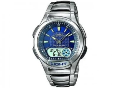 Relógio Masculino Casio Anadigi - Resistente à Água Cronômetro Mundial AQ-180WD-2AV - Magazine Ofertaesperta
