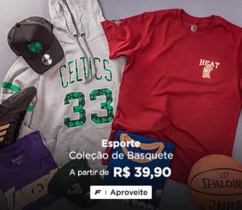 Coleção de Basquete a partir de R$ 39,90 + 12% OFF com cupom
