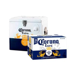 Comprando 1 caixa de Corona (24 garrafas), o Cooler sai por R$ 150