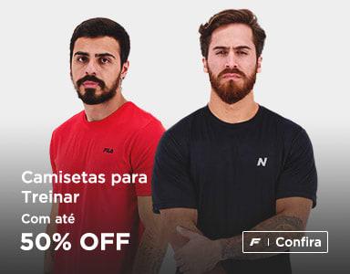Até 50% de Desconto em Camisetas Esportivas + 15% OFF com Cupom
