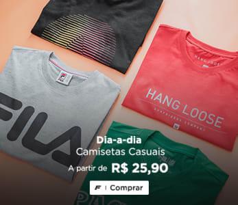 Camisetas Casuais a partir de R$ 25,90