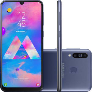 "Smartphone Samsung Galaxy M30 64GB Dual Chip Android 9.0 Tela 6.4"" Octa-Core 4G Câmera 13MP +5MP+5MP - Azul"