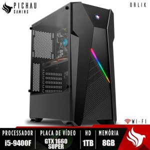 PC Gamer Pichau Orlik I5-9400F H310M GeForce GTX 1660 Super 6GB 8GB DDR4 HD 1TB 500W + TP-LINK
