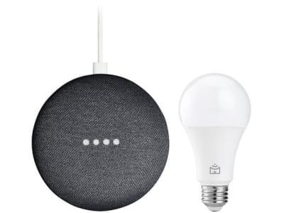 Nest Mini 2ª geração Smart Speaker com Google - Assistente Carvão + Lâmpada Inteligente Positivo - Magazine Ofertaesperta