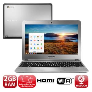"""Notebook Samsung Chromebook 303C12-AD1 com Samsung Exynos 5, 2GB, 16GB eMMC, Leitor de Cartões, HDMI, Wireless, Webcam, LED 11.6"""" e Chrome OS"""