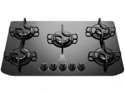 Oferta ➤ Cooktop 5 Bocas Electrolux GC70V à Gás – Acendimento Superautomático – Magazine   . Veja essa promoção