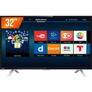 Smart TV LED 32 HD Toshiba 32L2600 3 HDMI 2 USB Wi-Fi Integrado Conversor Digital - Magazine Ofertaesperta