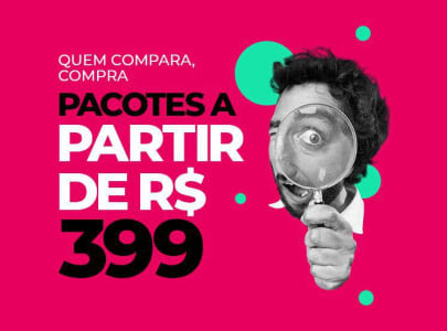 Pacotes de Viagens 2021 a Partir de R$399,00 - Diversos Destinos Incríveis!
