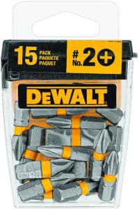 DEWALT Jogo caixinha com 15 pontas Phillips 2-1 Pol. DWA1PH2-15