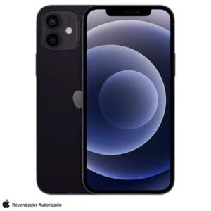 """iPhone 12 128GB Preto, com Tela de 6,1"""", 5G e Câmera Dupla de 12 MP - MGJA3BR/A"""