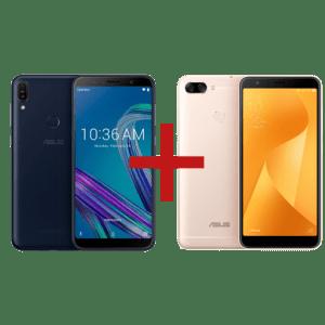 Zenfone Max Pro (M1) 3GB/32GB Preto + Zenfone Max Plus (M1) 3GB/32GB Dourado
