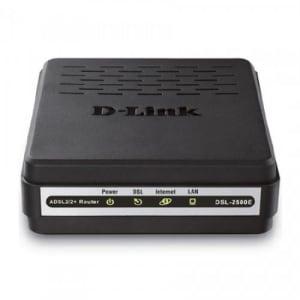 Modem Adsl2 Roteador D-Link Dsl-2500e Com 01p Ethernet Dsl-2500e