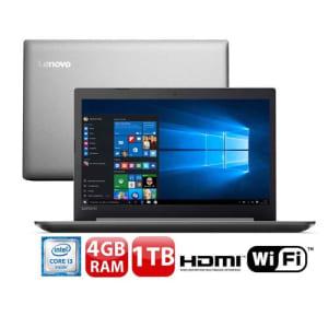 """Notebook Lenovo Core i3-6006U 4GB 1TB Tela Full HD 15.6"""" Windows 10 Ideapad 320"""
